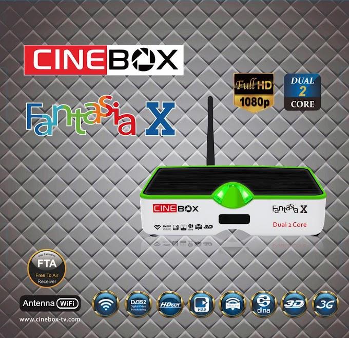CINEBOX FANTASIA X DUAL CORE NOVA ATUALIZAÇÃO - 30/04/2016