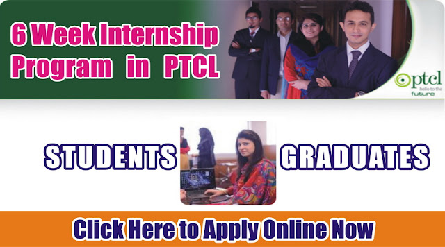 6 Week Internship in PTCL for Different Subjects