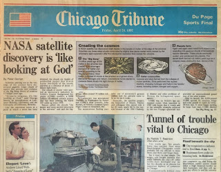 Chicago Tribune headline 4/24/1992