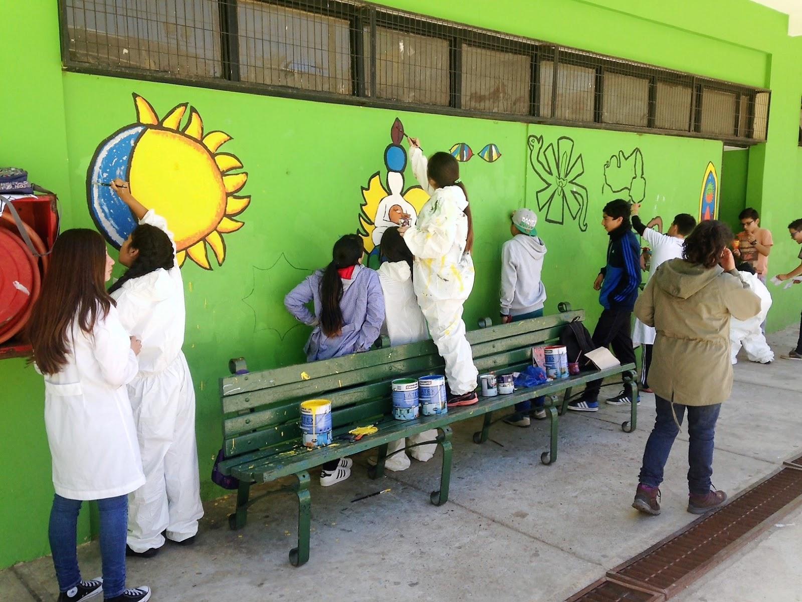Vida Escolar ESNAUNI Valparaíso: Mural, Arte MINEDUC