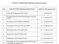 Jadwal Pelaksanaan UKG/UTN Ulang Tahap 2 Tahun 2017