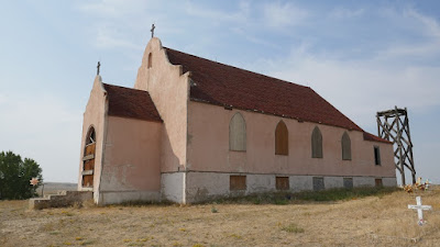church, cemetery, Montana, Harlem, Fort Belknap Agency, abandoned