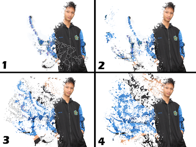 efeserpihankeren di photoshop, efek dispersion keren, efe dispersal.