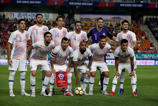 Formación de Chile ante Corea del Sur, amistoso disputado el 11 de septiembre de 2018