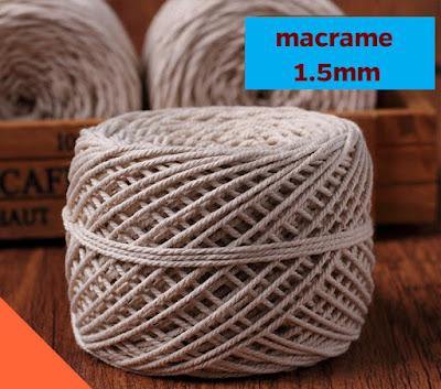 Bán sỉ và lẻ phụ kiện làm Macrame - dây làm macrame - nguyên liệu
