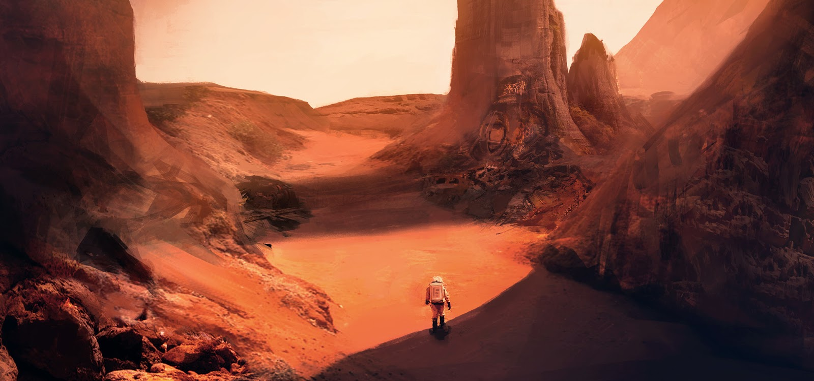 Martian Rust Valley by Pat Fix