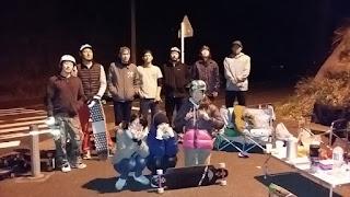 夜のロングスケートボード練習会2016年最終セッション