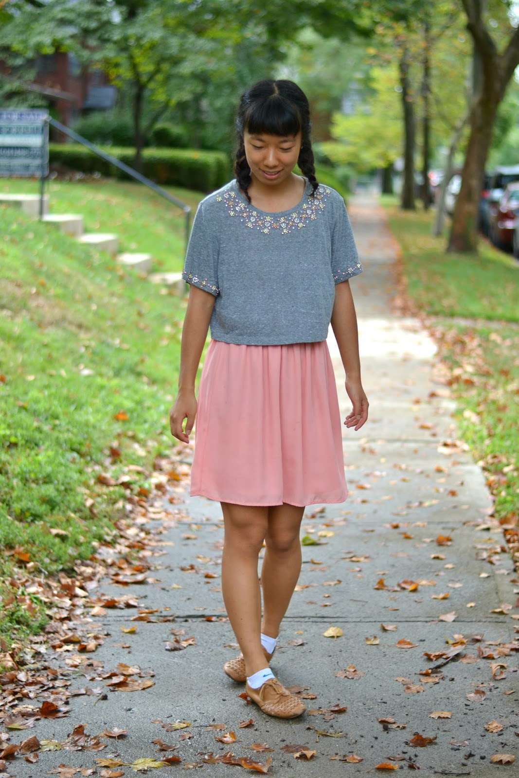 crop top outfit fall