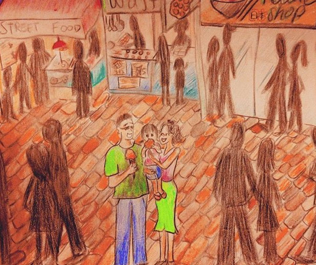 family life familylife hongkong hk drawing art sketch