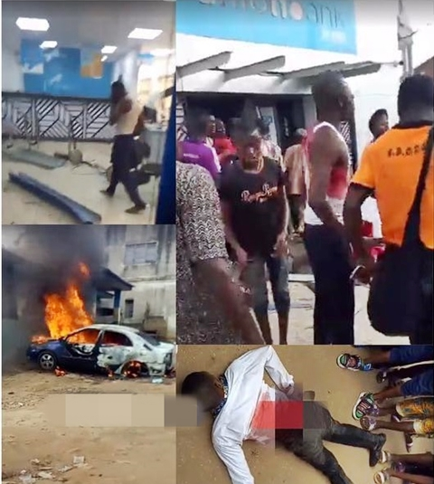 Armed Robbers Attack Bank In Ekiti, Kill Policeman, Bank Worker, Steal Millions (Photos)