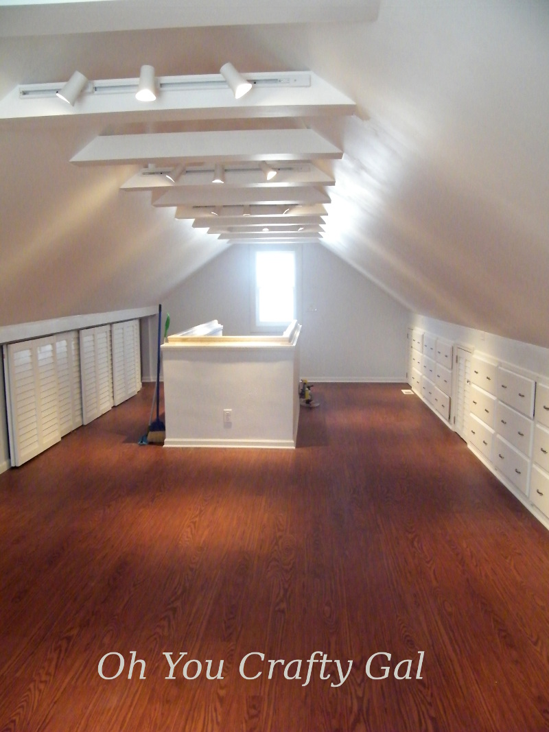 Attic Renovation Dream Craft And Sewing Room Part 3 Final Results Tons Of Built In Storage