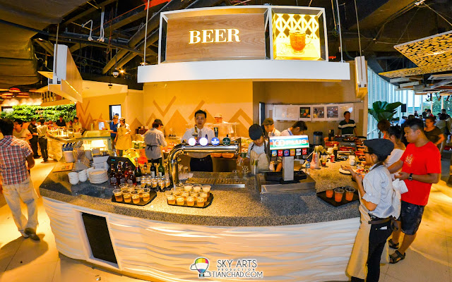 Varieties of beers are avaialble at the drink counter @ Taste  Enclave, Avenue K