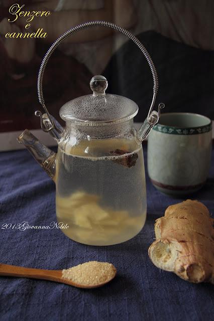 Bevanda calda allo zenzero e cannella