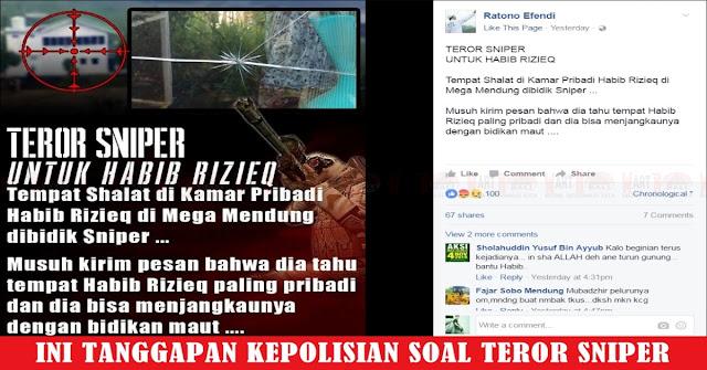 Ada Teror Sniper Untuk Rizieq, Polda Jabar Tantang Saksi Lapor Ke Polisi