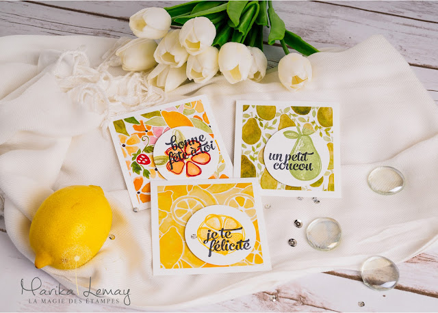 ensemble de cartes Fresh fruits stampinup!