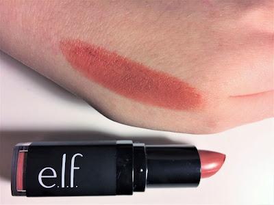 e.l.f. Moisturizing Lipstick Cheeky swatch