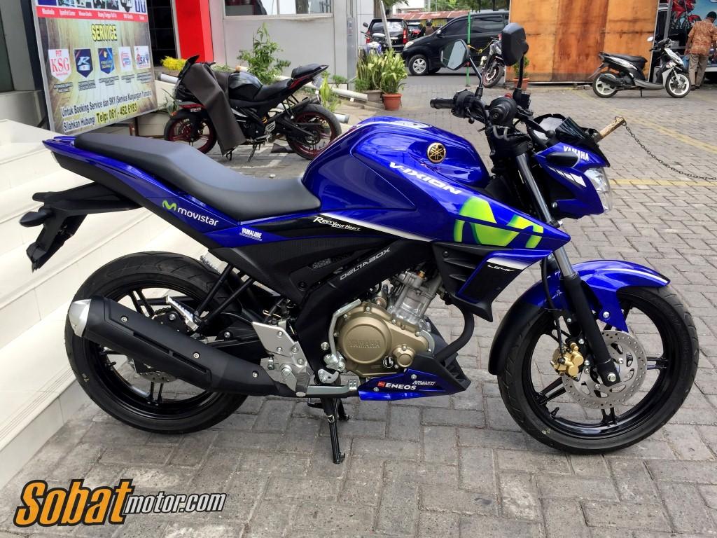 All New Yamaha Vixion Livery MotoGP Movistar sudah tiba dikota Medan, berikut harganya sob