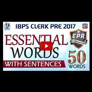 Essential Words With Sentences | English Power Rangers (EPR) | IBPS Clerk Pre 2017