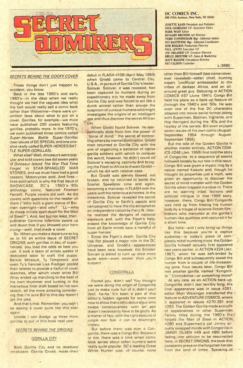 Read online Secret Origins (1986) comic -  Issue #40 - 45