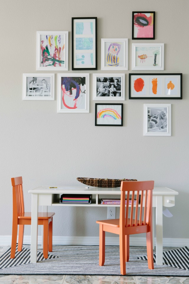 Kids Art Gallery Wall Design Improvised