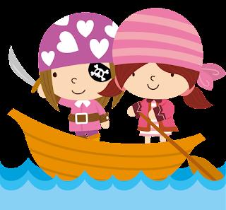 niñas piratas en el mar para imprimir