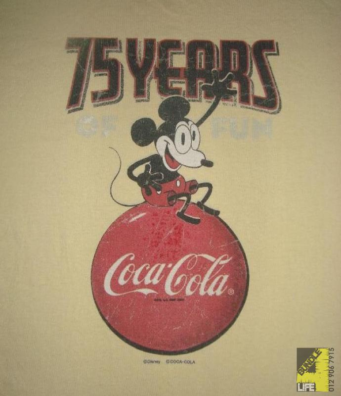 e92f3aa5c00a97 Mickey Mouse x Coca Cola - 75 Years of Fun shirt (SOLD)