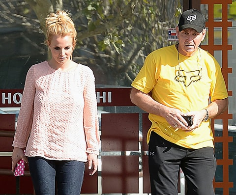 Britney Spears and her father, Jamie. Picture