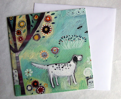 An Eye on the Birds by Louise Rawlings - greetings card