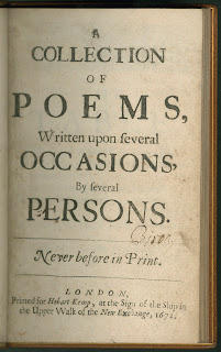 "The title page for ""A Collection of Poems."""