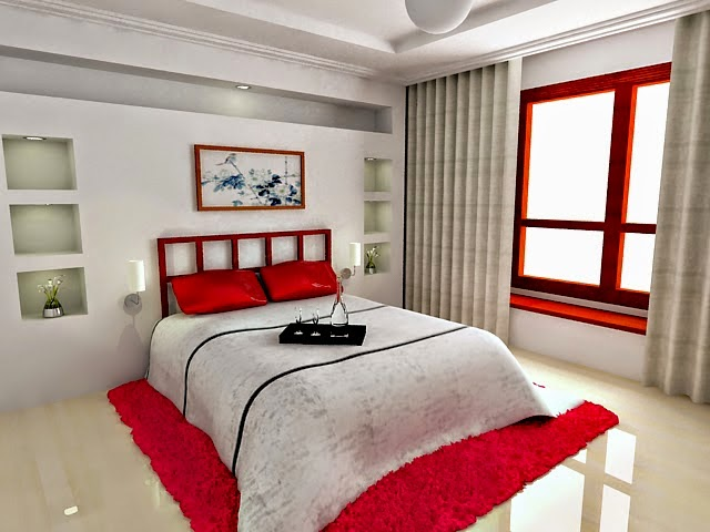 petite chambre blanc et rouge. Black Bedroom Furniture Sets. Home Design Ideas