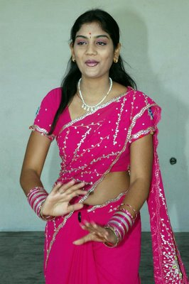 karuna star mallu in pink saree album latest photos