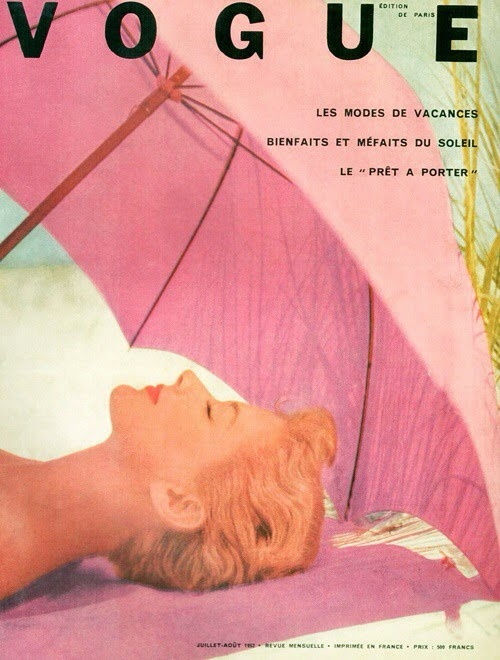 In my opinion the vintage Vogue magazine covers really are a work of art  and great to look at when seeking inspiration.