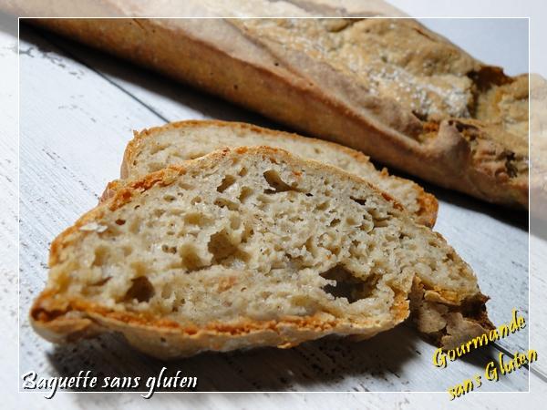 Baguette, pain sans gluten, au lev''quinoa