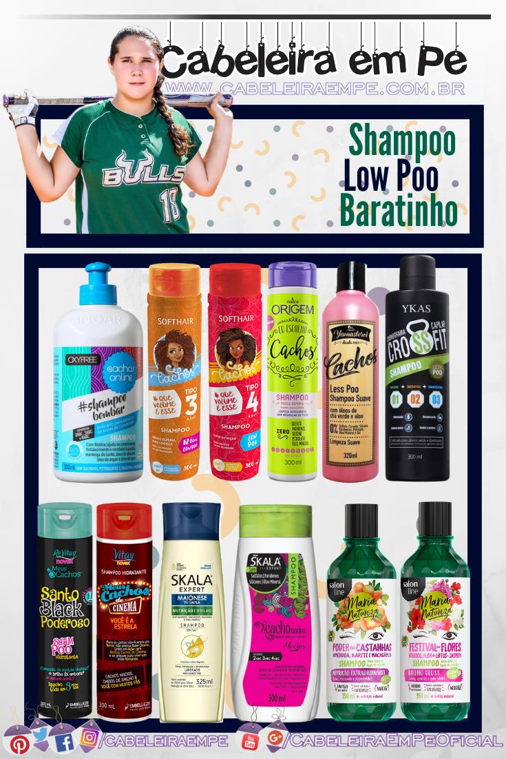 Shampoo Low Poo Barato - Inoar, Soft Hair, Nazca, Yamá, Ykas, Embelleze, Skala e Salon Line