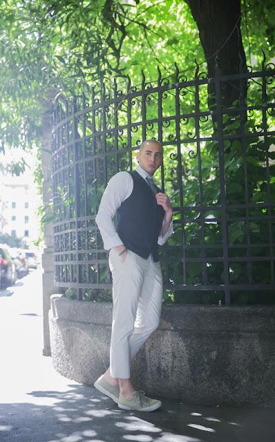 outfit uomo con gilet