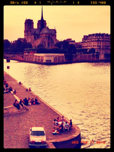 Atardecer en el Sena, momento fotográfico