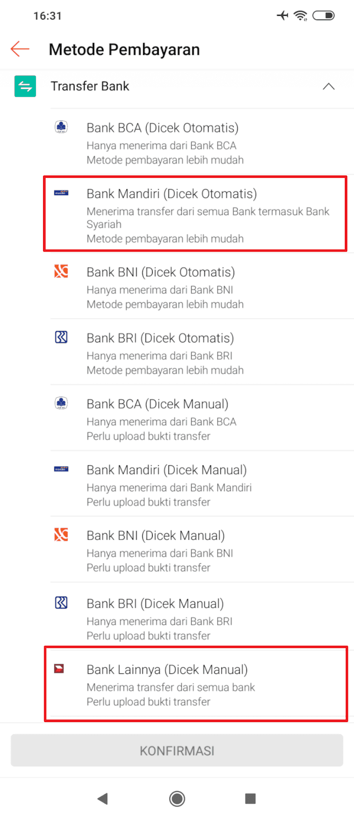 Transfer Bank Shopee