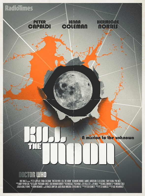 Doctor Who Kill the Moon retro poster