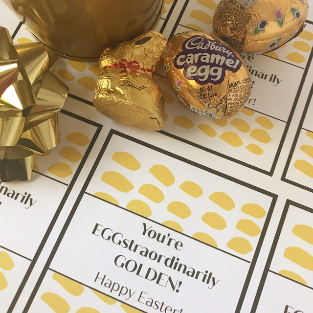 Eggstraordinarily Golden Easter pun gift @michellepaigeblogs.com