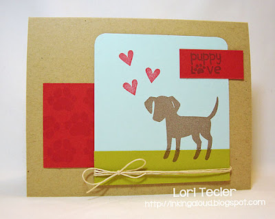 Puppy Love-designed by Lori Tecler-Inking Aloud-stamps from Paper Smooches