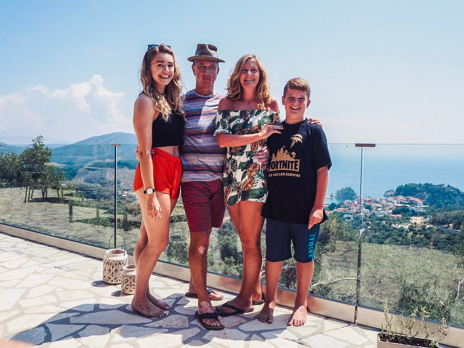 Family in Parga, Greece