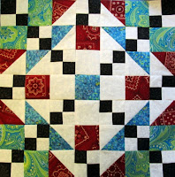 how to make a quilt pattern block of triangles and squares by The Quilt Ladies