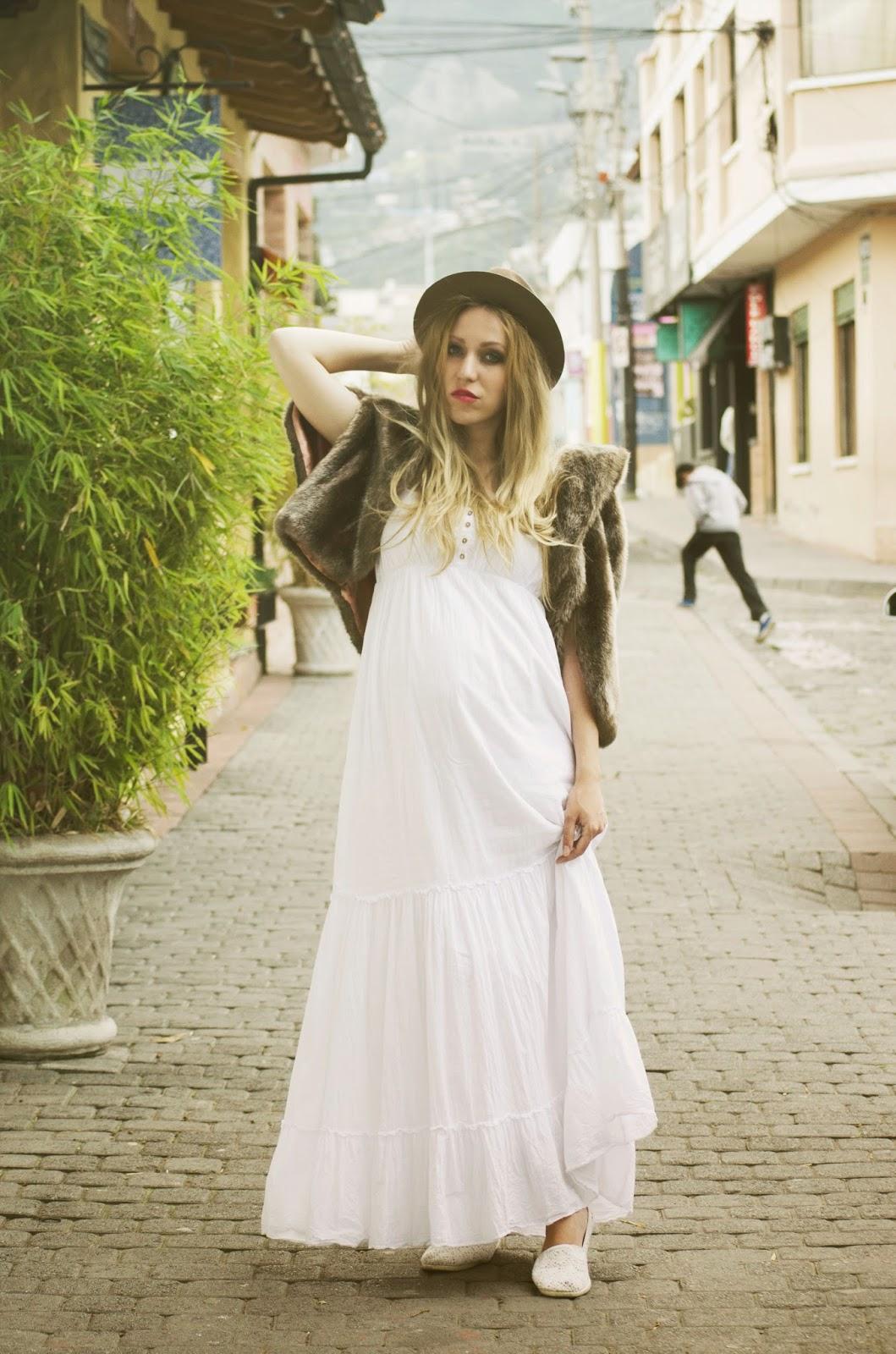 looks de embarazadas jovenes boho