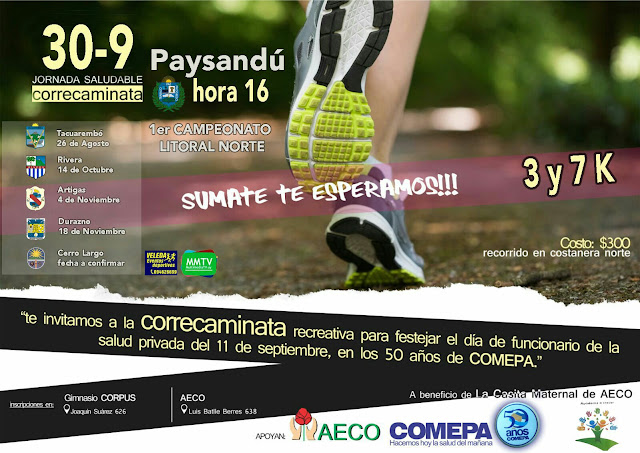7k y 3k Paysandú (2ª fecha Campeonato litoral norte, 30/sep/2017)