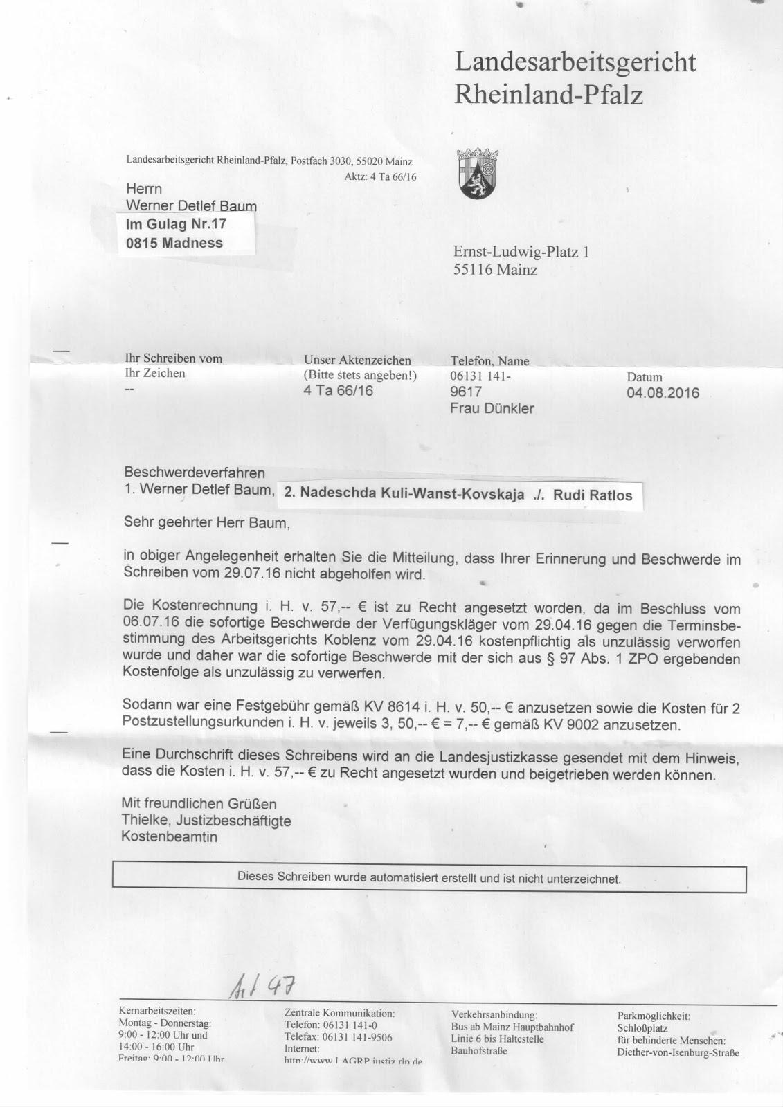 Charta der Europäischen Grundrechte beim Landesarbeitsgericht ...