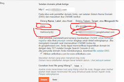 Mengganti domain blogspot ke Top Level domain (TLD)