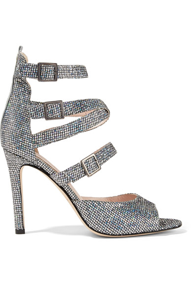SJP By Sarah Jessica Parker Fugue glitter leather sandals