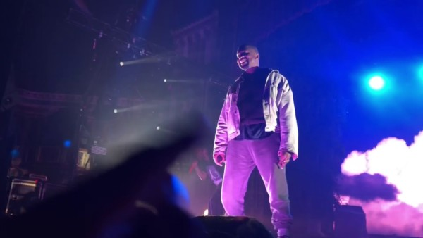 Video: Kanye West makes first appearance in a Year at Kid Cudi's concert