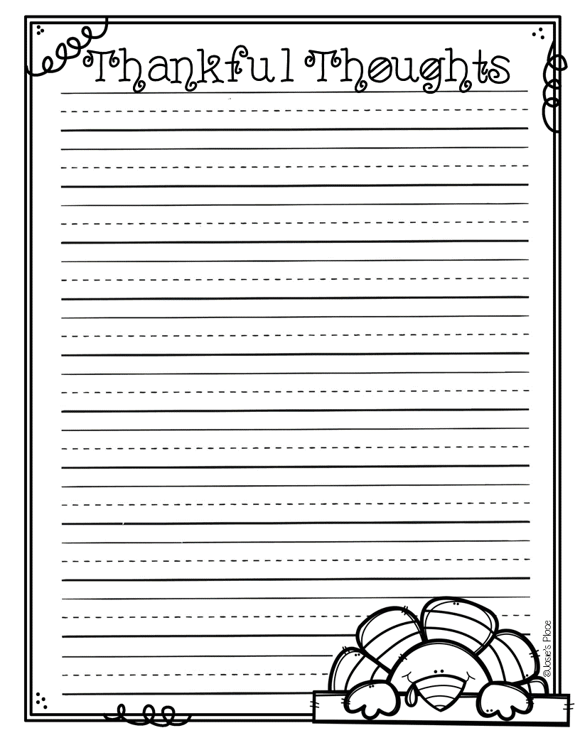 thanksgiving writing paper Thanksgiving theme activities for your pre-k  large piece of butcher paper, clip art of various thanksgiving foods  and writing opportunities that align with.