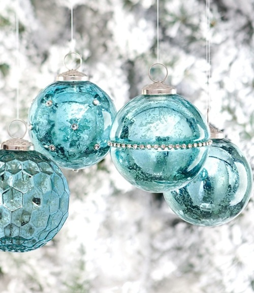 Blue And Green Christmas Tree: House Envy* The Beach House: Christmas At Tiffany's